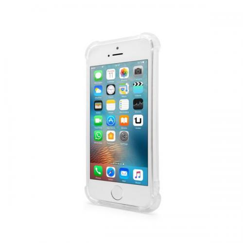 Unotec Coque Antichoc TPU Gel iPhone 5,5S,5C,SE Transparente