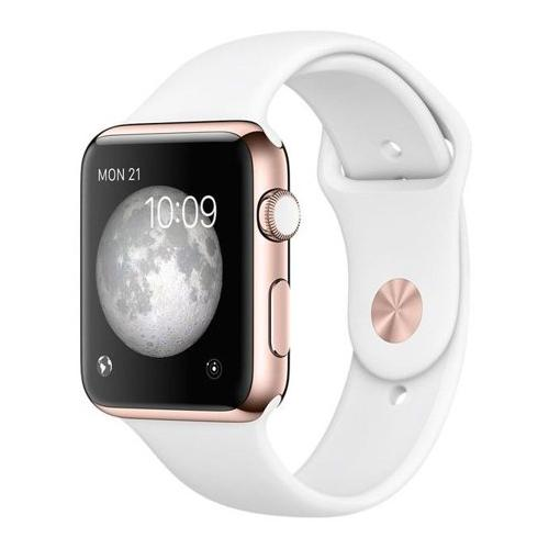 Apple Watch Serie 3 38mm GPS + Cellular Alu. Or Bracelet Sport Blanc